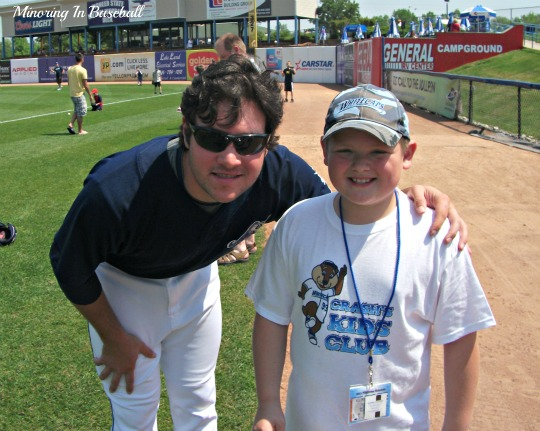 Trevor with Patrick Leyland. Both are catchers, and both have dads who are great baseball coaches.