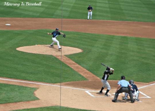 Kyle Ryan pitching for the Whitecaps