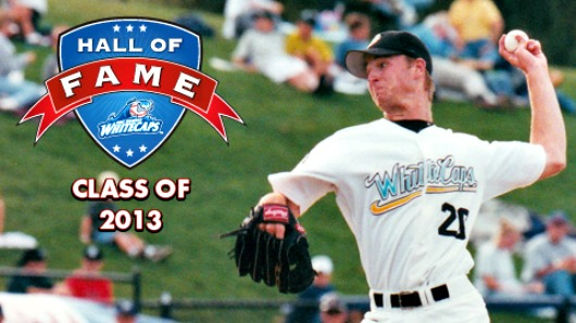 Andy Van Hekken pitched for the Whitecaps in 2000, setting the record for wins at 16.