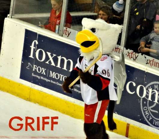 The Griffins mascot...Griff!