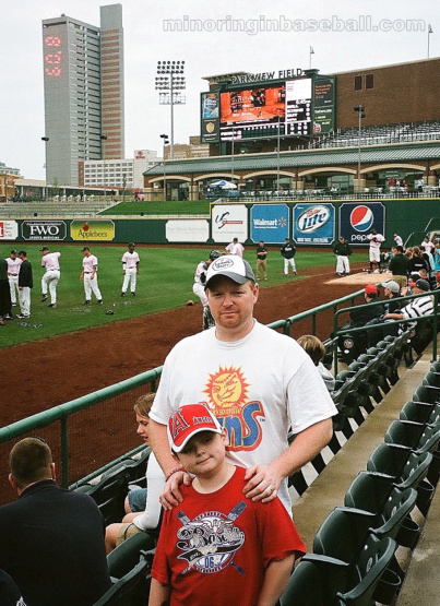 Trevor and I at Parkview Field in 2009