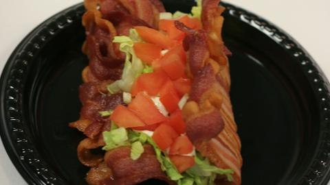 The 'BACO', a taco with a special bacon shell will be served at Whitecaps games this season.