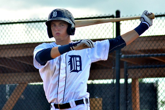 Outfielder Austin Schotts is ranked as the fifth highest prospect for the Tigers by Baseball America