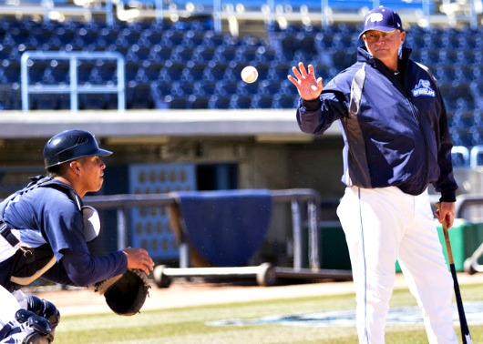 Larry Parrish, who has managed the Detroit Tigers and Toledo Mud Hens, is at the helm for the Whitecaps this season