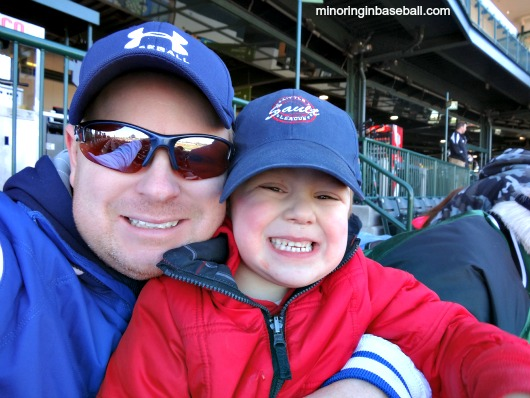 Brian and I enjoying the ballgame!