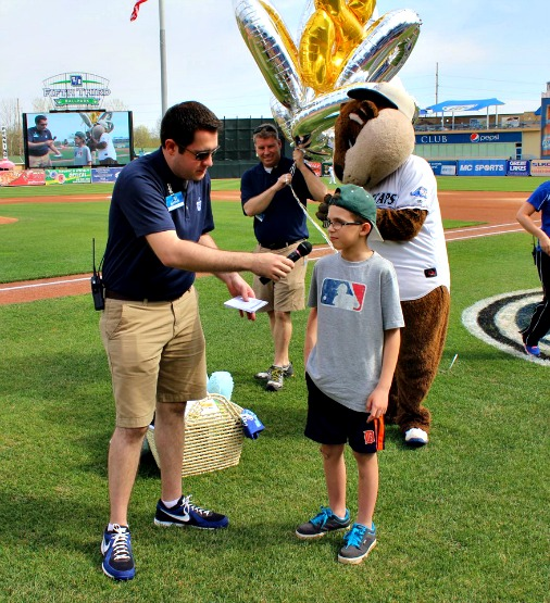 Alex Alder was the 8 millionth Whitecaps fan to enter Fifth Third Ballpark!