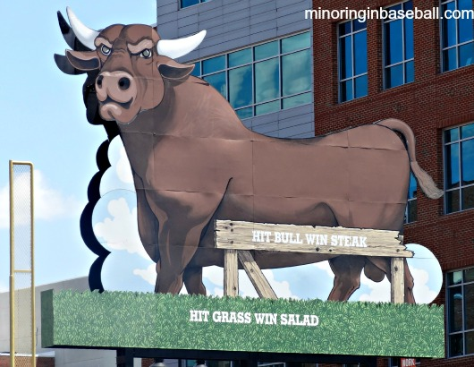 Unfortunately, no one hit the bull to win a free steak