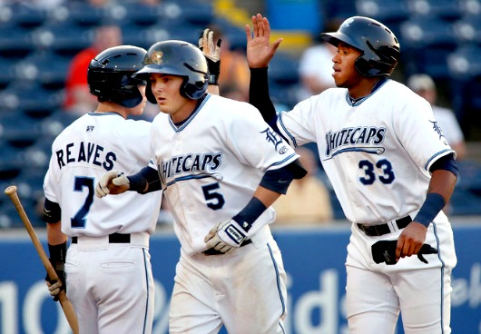 Austin Schotts hit two homers against the Kernels