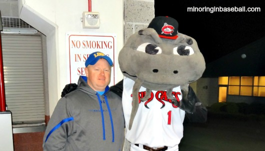 Muddy and me. Wow...I look tired after a long day of baseball!