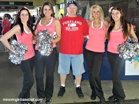 Hanging out with the lovely KnightinGals, the Knights dance/cheer team