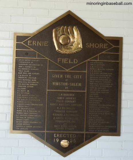 Gene Hooks Field was once Ernie Shore Field, home of the Winston-Salem Warthogs