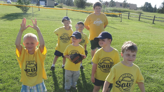 My Tee Ball team, sponsored by 'A Therapy World'. All great kids!