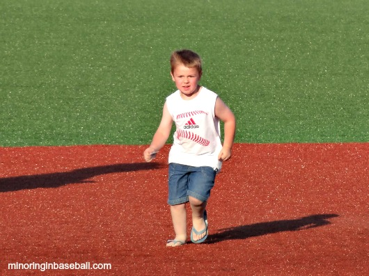 Brian running the bases at Wuerfel Park!