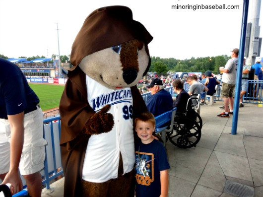 Brian with our favorite mascot-Crash the River Rascal!