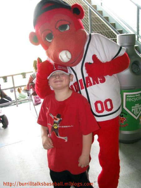 Trevor with Rowdie at Victory Field in 2009