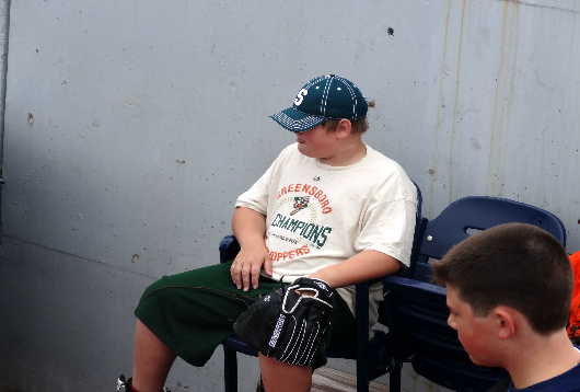 Trevor chillin' in the bullpen