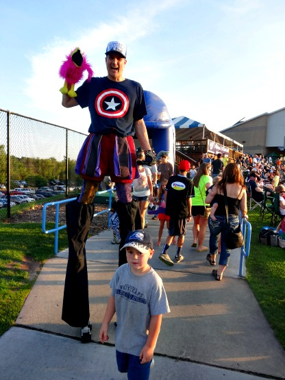 Stilt-walkers were on hand, too!