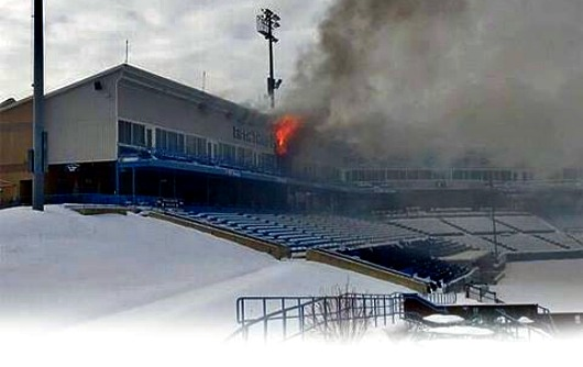 Fifth Third Ballpark early on when the fire started 01/03