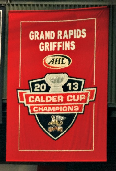 Last year's championship banner. This is what it's all about.