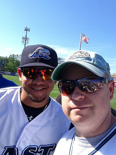 Betancourt and I at the MWL All-Star game in 2014. Now he's with the Brewers.