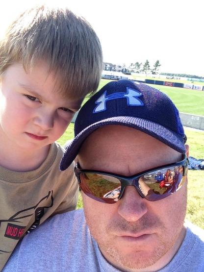A serious ballpark selfie with Bri-guy