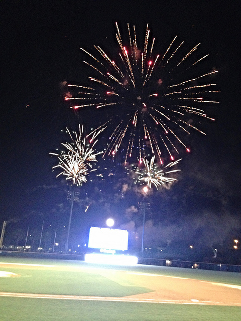Fireworks Friday, so we had even more entertainment after the game.