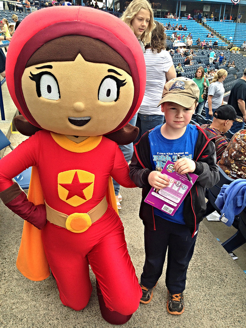 Brian with PBS Wordgirl!