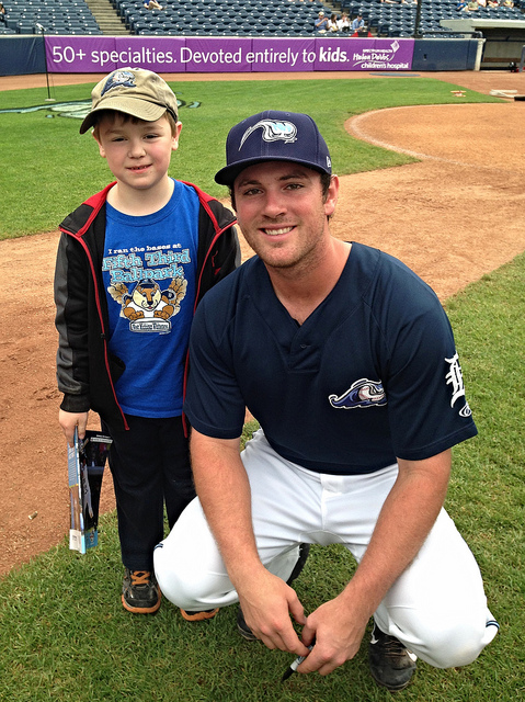 Brian with his favorite Whitecaps player, Joey Pankake