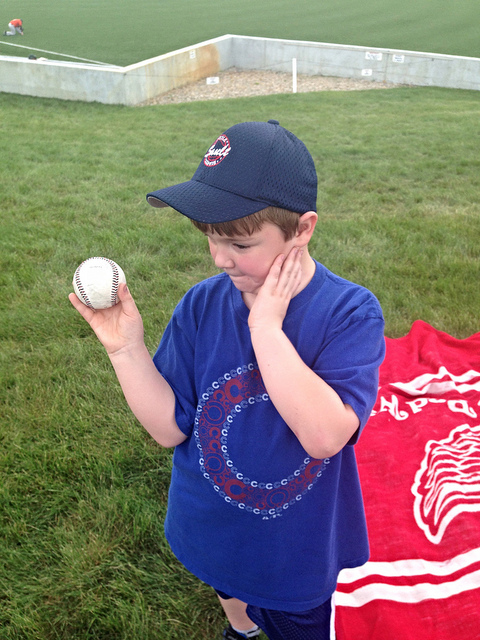 Brian with his Frontier League game ball