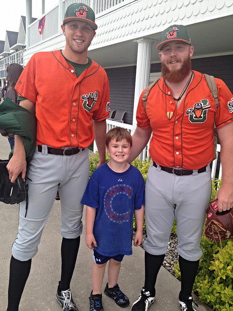 Brian with members of the Joliet Slammers
