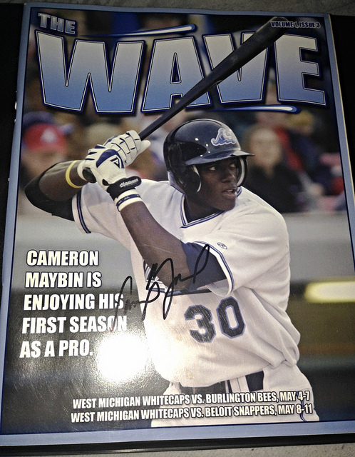 A Whitecaps program that Maybin was nice enough to sign for us in 2006.