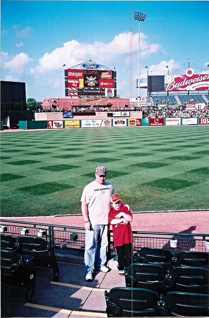 A younger Trevor and I at Louisville Slugger Field in 2009