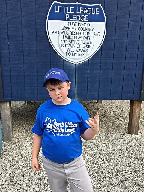 Brian and I love the Little League Pledge!